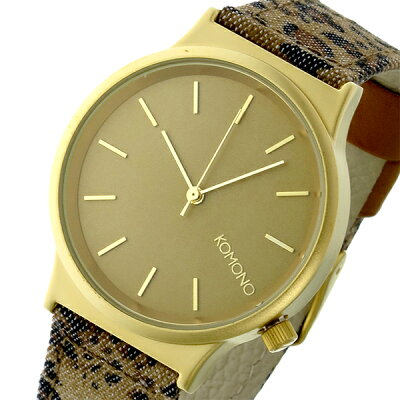 コモノ(KOMONO)Wizard Print-Leopard 腕時計 ゴールド