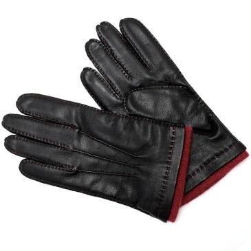 デンツ DENTS 革手袋 グローブ メンズ レディース ユニセックス レザー BLACK RUST 7 1/2サイズ