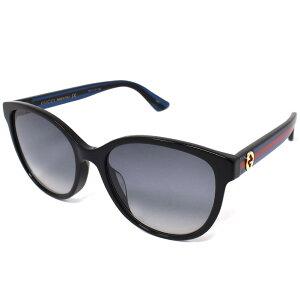 グッチ GUCCI サングラス メンズ レディース ユニセックス ウェリントン アジアンフィット UVカット グレーグラデーション×ブラック