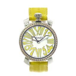 【期間限定ポイント10倍6/22〜】ガガミラノ GaGa MILANO 腕時計 レディース ホワイト イエロー