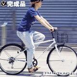 カゴ付きクロスバイク自転車26インチライト・カギセットクロスバイク激安26インチ6段変速通勤KAZATO(カザト)CKZ-266
