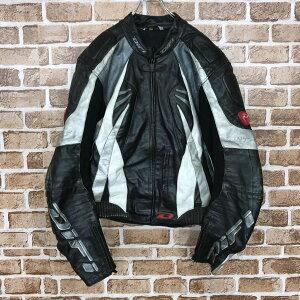 DiFi ライダーズジャケット 2XLサイズ位 サイズ表記102 モーターサイクル バイクウェア レザー 革 古着卸 アメリカ仕入 t2011-3768