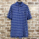 Polo Ralph Lauren 半袖 ポロシャツ Lサイズ ラルフローレン ボーダー ジャンク品 古着卸 アメリカ仕入 t205-3714