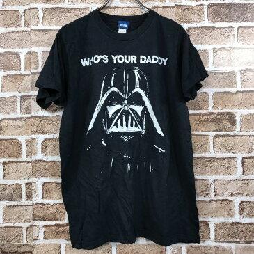 STAR WARS 半袖 プリントTシャツ Mサイズ ダースベイダー 黒 ブラック 古着卸 アメリカ仕入 t206-3300