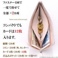 L字ファスナー長財布の説明