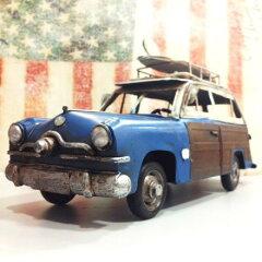 ブリキ製 ヴィンテージカー サーフ ウッディ ワゴン ハンドメイド フォード 世田谷ベース ビンテージカー グッズ ミニカー アメリカ 雑貨 アメリカン雑貨