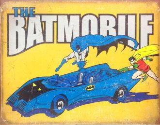 蝙蝠俠羅賓蝙蝠俠羅賓金屬板錫標誌 AME COMI 玩具直流英雄蝙蝠俠玩具美國商品美國內政