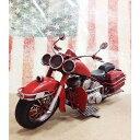 ブリキ製 オールドバイク ハーレー レッド アメリカン雑貨 世田谷ベース インテリア アメリカ 雑貨 ブリキ オブジェ