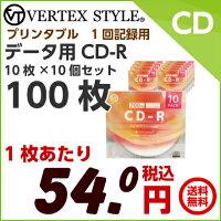 データ用CD-R10枚ケース×10個