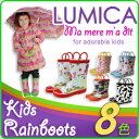 ★レビューを書いて2点以上ご注文で【送料無料】★【キッズ】 LUMICA Rainboots ルミカレインブ...