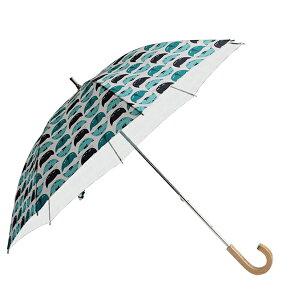 コルコショートスライド式全8柄長傘手開き日傘/晴雨兼用ニャオ8本骨50cm