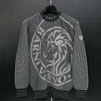 バーニヴァーノライオンジャガードセーター黒LBSS-JSW3607-09