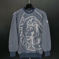 バーニヴァーノライオンジャガードセーター紺LBSS-JSW3607-65