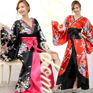 Oiran Kimono Dress Kimono Dress Sexy Kimono Dress Kimono Style Dress Caba Dress Long Dress Cosplay Costume Dance Caba Oi Party Yosakoi Event ★ براقة أسلوب Oiran! الطاووس نمط زهرة وفخامة ثوب طويل كيمونو ♪ بيع الحرية