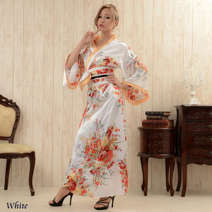 kimono dress sexy kimono dress party event super low price kimono dress oiran cosplay cabaret dress long dress costume cabaret dress small devil water party ★ japanese pattern satin long dress with oiran style belt ♪ Freedom Dress [RCP] sale Sale No. 9