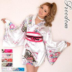 Oiran Kimono Kleid Sexy Kimono Kleid Super Low Price Kimono Kleid Oiran Cosplay Cabad Kleid Minikleid Kostüm Caba Kleid Koakuma Omizu Party Hinamatsuri Pfirsich Festival ★ Satin Japanisches Muster Luxus Oiran Mini Kimono Kleid ♪ Freiheit Kleid [RCP] Verkauf Sale