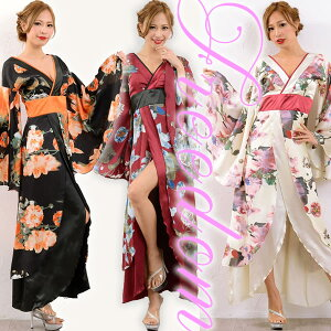 Oiran Kimono Dress Kimono Dress Sexy Kimono Dress Kimono Style Dress Caba Dress Long Dress Cosplay Costume Dance Caba Oi Party Yosakoi Event ★ Glossy Oiran Style! فستان طويل بنقشة كيمونو بنقشة زهور ♪ بيع تخفيضات الحرية
