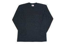 【ONEITA】L/SポケットTシャツグレーホワイトブラックネイビー