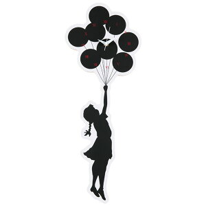 "Sync×BRANDALISM WALL CLOCK ""FLYING BALLOONS GIRL"" 2nd made by KARIMOKU (シンク ブランダリズム バンクシー カリモク ウォールクロック 時計)"