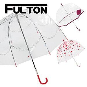 フルトンFULTON傘雨傘バードケージbirdcageビニール傘長傘英国王室御用達ルルギネスLuluGuinnessUKデザイナーコラボ