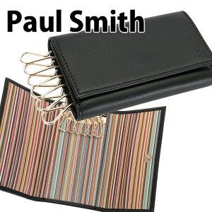 ポールスミスPaulSmithキーケース6連メンズブラックAPXA1981W761B