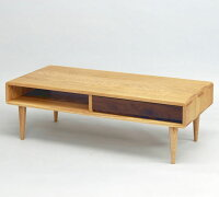 センターテーブルテーブルリビングテーブル収納付き木製無垢ウォールナットタモ無垢天然木おしゃれシンプルナチュラルアンティーク収納北欧通販送料無料送料込み【送料無料】Smartリビングテーブル110(ライト/ダーク)