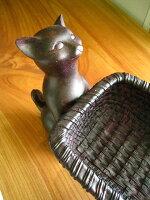 置物バスケット小物入れお菓子花観葉植物果物猫雑貨猫グッズねこグッズかわいい飾りアンティーク風インテリア雑貨結婚祝い出産祝い誕生祝い誕生日プレゼントギフト【お買得品】Rust2Catバスケット