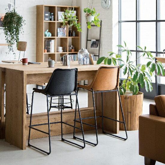 カウンターチェアカウンタースツール椅子イスバーチェアおしゃれ北欧合皮ヴィンテージアンティークスチール背もたれバースツール木製ハイチェアチェアチェアーシンプルおしゃれ高さ78cm【送料無料】LOGカウンターチェア