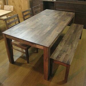 ダイニングセット 5点セット ウォールナット無垢 ダイニングテーブル ダイニングチェア 木製テーブル 無垢 ナチュラル 食卓 テーブル 北欧デザイン ミッドセンチュリー ダイニング 椅子 180