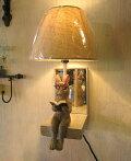 ミラー付き壁掛け照明鏡インテリア照明うさぎ読書兎ウサギ雑貨ライトおしゃれ雑貨ウォールライト壁掛け照明壁掛けウォールランプアジアン雑貨モダン壁掛け照明おしゃれうさぎデザイン寝室レトロエスニックシェードランプ【送料無料】野うさぎGarlandウォールランプ
