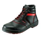 安全靴 SL22-R 黒/赤(23.5〜28.0cm(EEE)) シモンライトシリーズ SX3層底 中編上靴 セフティシューズ シモン(Simon) お取寄せ