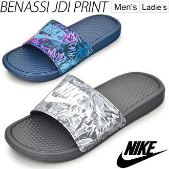耐克淋浴涼鞋 /NIKE benassi 列印 / 男式女式運動涼鞋 Benassi 鞋海池海灘 RKap/618919