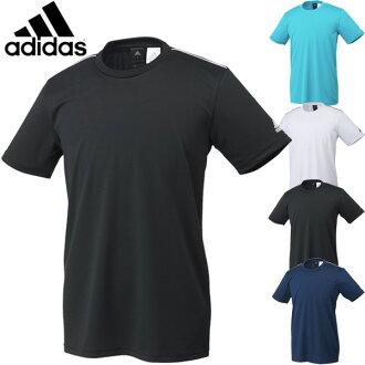 T恤愛迪達adidas人短袖襯衫跑步跑步訓練健身房運動服飾男性吸汗速乾無地一點/DJP82