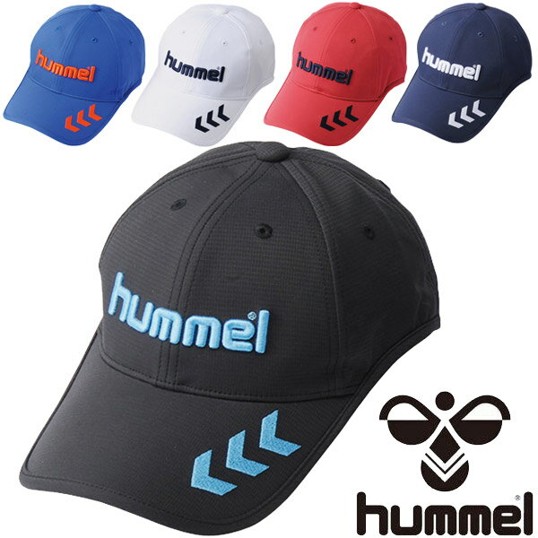 キャップ 帽子 メンズ/ヒュンメル Hummel ベーシックキャップ サッカー フットボール アクセサリー 日差し対策 UVカット 紫外線対策 吸汗速乾 スポーツキャップ /HFA4062