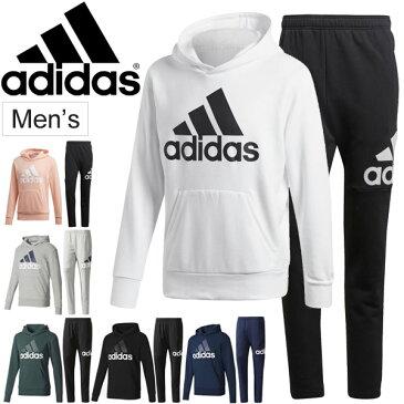 スウェット パーカー パンツ 上下セット メンズ adidas アディダス トレーニング ジム スポーツ カジュアル ウェア 男性 スエット 裏毛 フード ジョガーパンツ/BVC41-DSD07