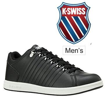 スニーカー メンズ シューズ ケースイス K・SWISS KSL 01 コートスタイル Black ローカット カジュアルシューズ 男性用 紳士 靴 黒 ブラック シンプル コートシューズ くつ/36800011/紳士靴/KSL01-