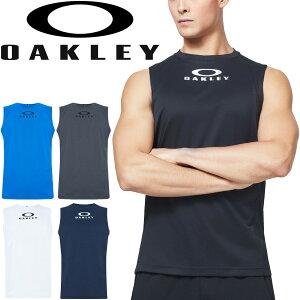 タンクトップ ノースリーブシャツ メンズ/オークリー OAKLEY Enhance NS Crew 10.0/スポーツウェア JPNフィッティング 自宅トレーニング ランニング ジム 男性 クルーネック 袖なし スリーブレス 吸汗速乾 トップス/FOA400842