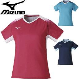 半袖 Tシャツ レディース ミズノ mizuno クイックドライゲームシャツ バドミントン ソフトテニス スポーツウェア 女性 吸汗速乾 トップス/72MA1220【取寄】【返品不可】