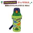 水筒 食洗機対応 ワンタッチボトル ディノサウルス 480M...