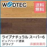 【フローリング】【送料無料!!】朝日ウッドテック ライブナチュラル スーパー6 ピュアハード塗装 3Pタイプ〈床暖房兼用〉(北海道・沖縄ほか離島などは送料別途お問い合わせ下さい)