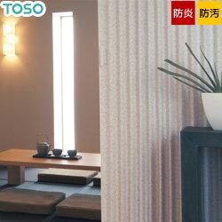 【アコーディオンドア】【オーダー15,600円〜】【TOSO】アコーディオンカーテン 主張しすぎない淡いカラーの花柄が優しい印象 クローザ ライト「グレーベル」__ac-cl-gu