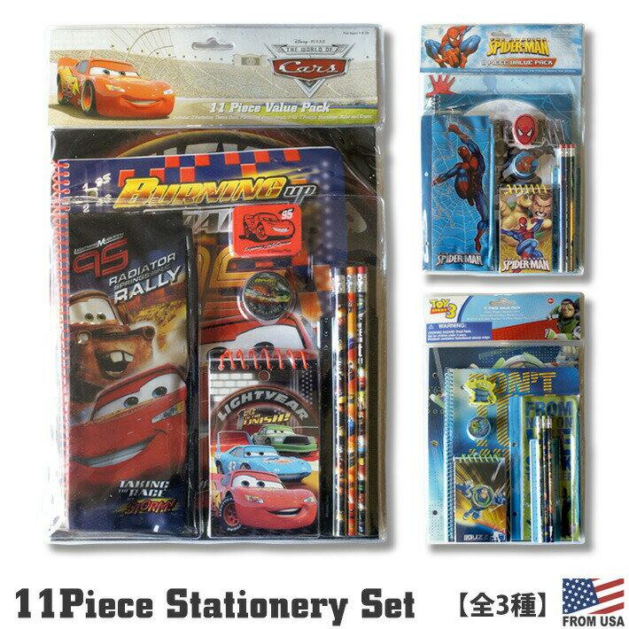 文房具・事務用品, その他 11 Cars Toy Story Spider Man BOYS Stationery Set 11pc Value Pack