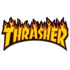 Thrasher Flames sticker Yellow (M)【ステッカー】/【ポイント】05P03Dec16