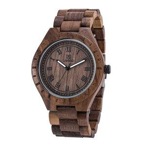Wood Watch 腕時計 木製 自然木 シンプル アンティーク風 薄型 手作り 防水 夜光針付き メンズ ◇UW-1001【メール便】