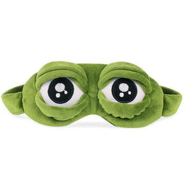 カエルモチーフ アイマスク 立体型 嬉しいポケット付き 夜行バスなど 睡眠に インパクト パーティ おもしろグッズ ◇LO-88【メール便】
