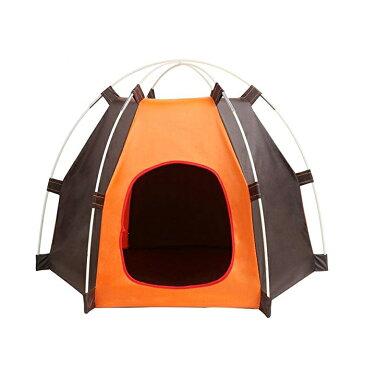 ペット用品 テント 犬小屋 ペットハウス 小型犬 猫 通気性良い 組み立簡単 持ち運び便利 折り畳み キャンプ アウトドア 撥水 日よけ 屋内外 カッコイイ ◇GT-GW