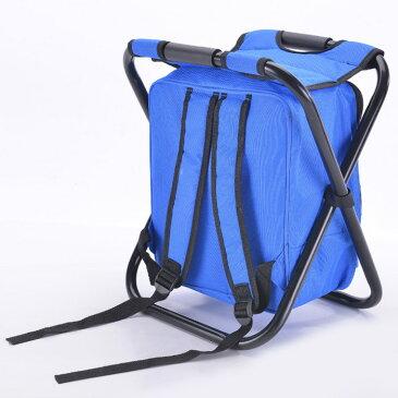 椅子付きリュック チェア 折りたたみ 防水 釣り キャンプ アウトドアチェア 折り畳み椅子 ◇COOL-CRUCK