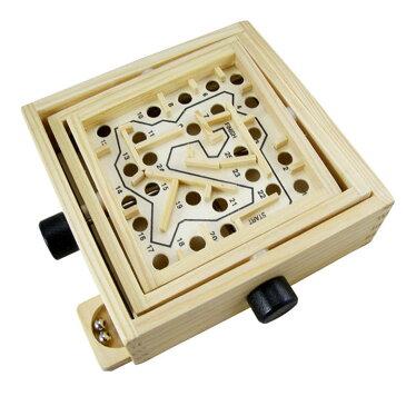 立体迷路 3D 木製 パズル 迷路 迷宮 知恵 知育 脳トレ 迷路ゲーム ラビリンス おもちゃ バランスゲーム 知玩具 養育 教育 ◇ZC037