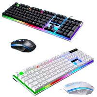 ゲーミングキーボードマウスセット有線USB接続LEDバックライト付き104キーゲームキーボード光学式マウス標準英語配列【並行輸入品】◇KB-G21