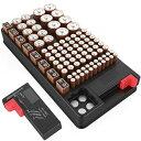 電池ホルダー 電池チェッカー付き 乾電池ケース 最大108本収納 保管ボックス BOX ストッカー 単1 単2 単...